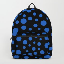 Blue circles black pattern Backpack