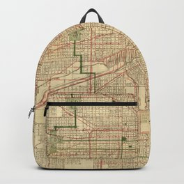 Vintage Map of The Chicago Railroads (1906) Backpack