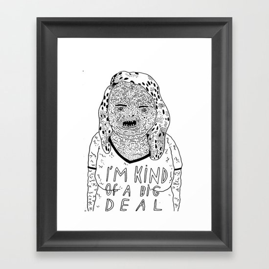 BIG DEAL Framed Art Print