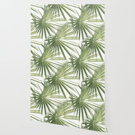 Tropical Beach Palm Vector Wallpaper
