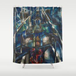 Classical Masterpiece 1920 Brooklyn Bridge by Joseph Stella Shower Curtain