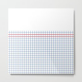 Dotted Grid Boarder Blue Red 2 Metal Print