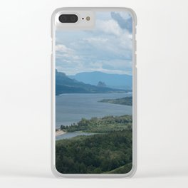 Columbia River Gorge From The Vista House Clear iPhone Case