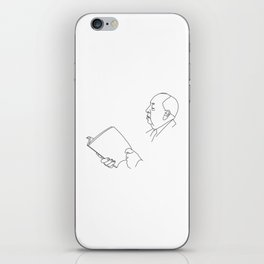 Alfred Hitchcock Minimal Line Drawing iPhone Skin