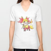 games V-neck T-shirts featuring Flame Games by Randy C