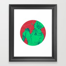 Model Two Framed Art Print