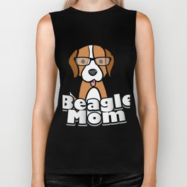 Beagle Mom Love Dog Mother's Day Gift Biker Tank
