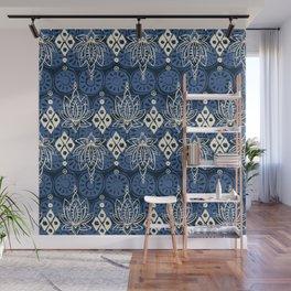lotus diamond indigo Wall Mural