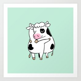 Cow Hugs Art Print