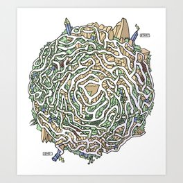Spore Maze Art Print