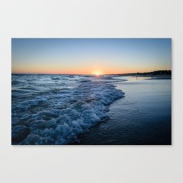 Sunset at the beach in 'Atlántida, Uruguay' Canvas Print