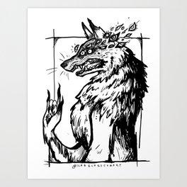 Eye Wolf Art Print