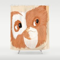 gizmo Shower Curtains featuring Gizmo by ItalianRicanArt