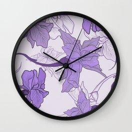 Iris Flower 2 Wall Clock