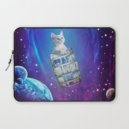 Space Cat in A Barrel Laptop Sleeve
