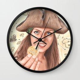 The treasure is finally mine Wall Clock