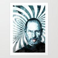 steve jobs Art Prints featuring Steve Jobs by michael pfister