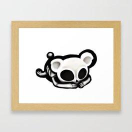 Skeleton bear Framed Art Print