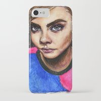 cara delevingne iPhone & iPod Cases featuring Cara Delevingne:) by vooce & kat