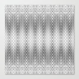Cool Silver Grey Frosted Geometric Design Canvas Print