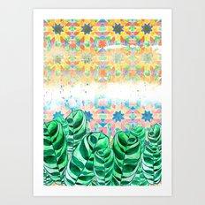 Plants and Tiles Art Print