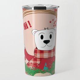 Papa Polar Bear Portrait Travel Mug