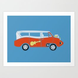 The  Monkeemobile Van Art Print