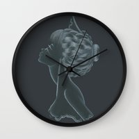 nurse Wall Clocks featuring Nurse by Zdenka Koskova