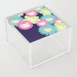 Happy Flower Faces Acrylic Box