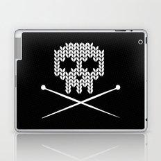 Knitted Skull (White on Black) Laptop & iPad Skin