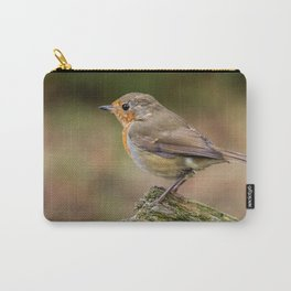 close up red robin birds Carry-All Pouch