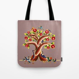 Pomegranate Tree Illumination Tote Bag
