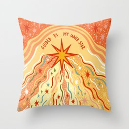 Guided by my inner star Throw Pillow