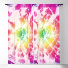 Tie-Dye Sunburst Rainbow Blackout Curtain