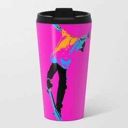 """Flipping the Deck"" Skateboarding Stunt Travel Mug"