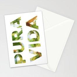 Pura Vida Costa Rica Palm Trees Stationery Cards