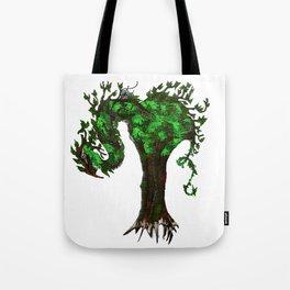 Tree Dragons Tote Bag