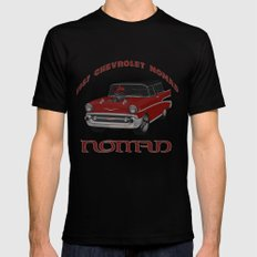 1957 #Chevy #Nomad Hot Rod MEDIUM Black Mens Fitted Tee