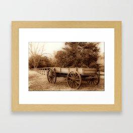 Wagon Framed Art Print