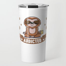 Funny Coffee Lover Sloth print - graphic for women men kid Travel Mug