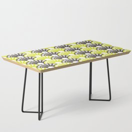 brown and lime art deco inspired fan pattern Coffee Table