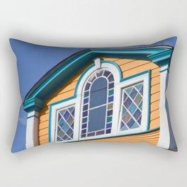 Orange House with multicolored vitreaux Rectangular Pillow