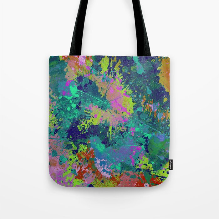 Messy Art I - Abstract, paint splatter painting, random, chaotic and messy artwork Tote Bag