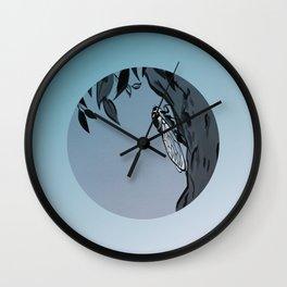 Evening Cicadas Sing Wall Clock