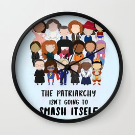 Smash the Patriarchy Wall Clock