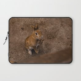 Adorable Bunny Portrait Laptop Sleeve