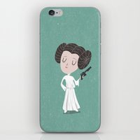 leia iPhone & iPod Skins featuring Leia  by Rod Perich