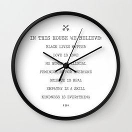 In This House We Believe Wall Clock