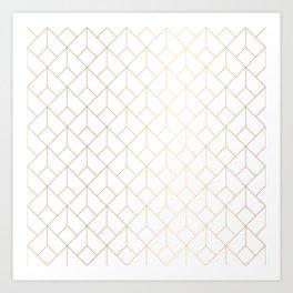 Geometric gold pattern Art Print