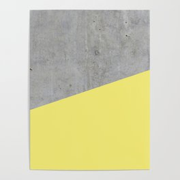 Concrete and Yellow Color Poster